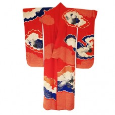 Red shibori furisode