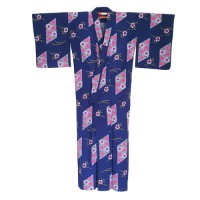 Purple cotton yukata