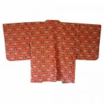 Red silk haori plum