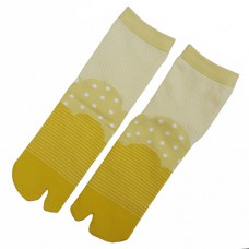 Yellow stripes and dots